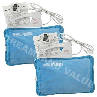 2 X Rechargeable Electric Hot Water Bottles Bed Hand Warmer Massaging Heat Pads