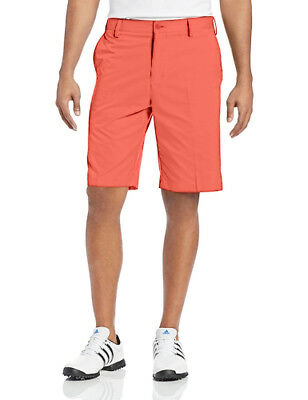 adidas Flat Front Mens Golfing Shorts - Orange