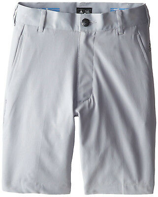 adidas Golf Boy's Pure Motion Stretch 3 Stripes Shorts - Grey