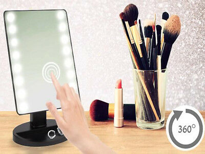 16 Led Light Magnifying Mirror Illuminated Touch Screen Make Up Beauty Cosmetic