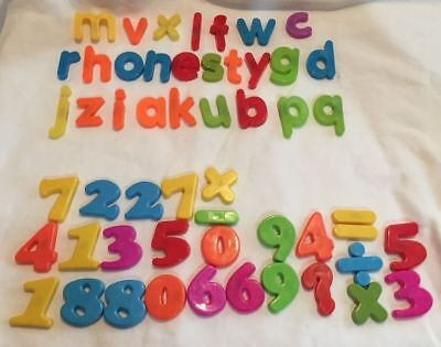NEW COLOURFUL MAGNETIC LETTERS and or NUMBERS MATHS ALPHABET FRIDGE MAGNETS HB