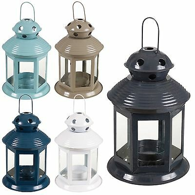 5 Home Garden Portable Lantern Tealight Candle Lamp Holder Indoor Outdoor Set