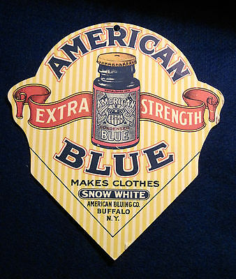 Old Extra Strength American Blue Advertising Display, Makes Clothes Snow White