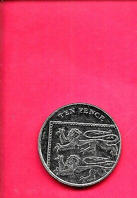 GREAT BRITIAN GB UK KM1110d 2012 UNC-UNCIRCULATED MINT 10 PENCE LARGE COIN