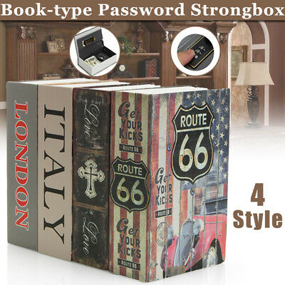 Hollow Home Security Dictionary Book Safe Cash Jewelry Storage Security Lock Box