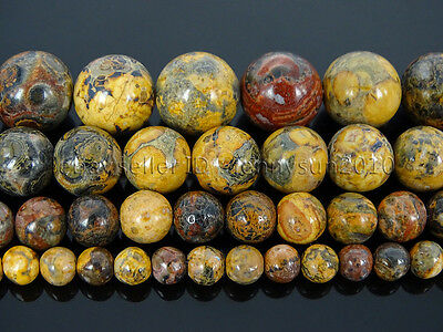 Natural Leopard Skin Jasper Gemstone Round Spacer Beads 15'' 4mm 6mm 8mm 10mm