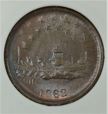1863 Civil War Token Union Forever - F-240/341A - Ms64Bn - Ngc