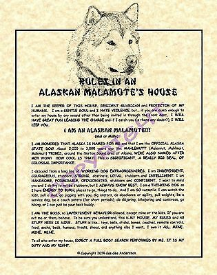 Rules In An Alaskan Malamute's House