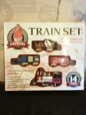 Brand New 14 Piece Express Train Set Battery Operated New Boxed