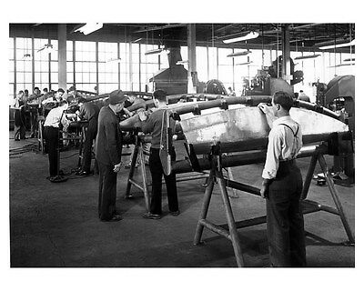 1941 Hudson WWII Republic Aviation ORIGINAL Linen-Backed Factory Photo oub3121