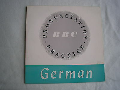 "MICHAEL SABINE & WALTER ANDREAS German Pronunciation Practice BBC 7"" PS mint"