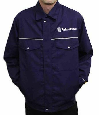 Genuine 90's Vintage Rolls-Royce Factory Issue Workwear Overall/Jacket With Logo