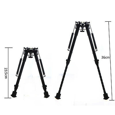 "10 levels 9""-15"" Long Hunting Rifle Bipod Mount TACTICAL folding Picatinny BDRG"