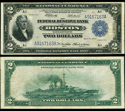 FR. 749 $2 1918 Federal Reserve Bank Note Boston Very Fine