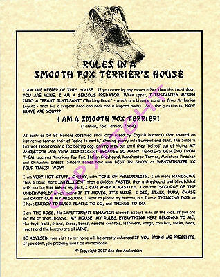 Rules In A Smooth Fox Terrier's House