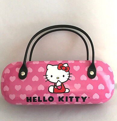 Hello Kitty Glasses Case Eyeglass Holder Purse Style Rare Hard Shell Classic
