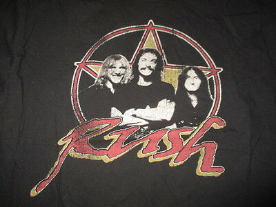1980 Retro RUSH Europe Tour Concert (XL) Shirt GEDDY LEE NEIL PEART ALEX LIFESON