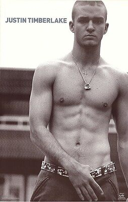 JUSTIN TIMBERLAKE ~ SHIRTLESS 22x34 MUSIC POSTER
