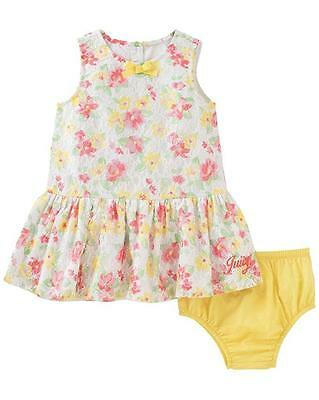 2f6105ca2 JUICY COUTURE BABY Girls Floral Crocheted Lace Strap Lined Dress ...