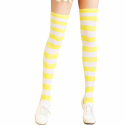 New Over Knee Plus Size Socks Tights Women Stockings Long Pantyhose Cotton Strip