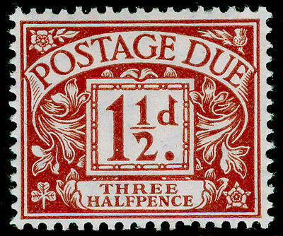 SgD12, 1½d chestnut, UNMOUNTED MINT. Cat £160.