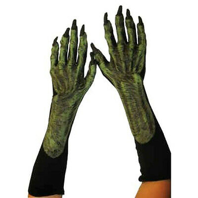 Evil Witch Old Hag Hands Claws Scary Adult Halloween Costume Gloves