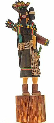 """Hopi Indian Carved 12"""" Warrior Maiden Kachina Doll Sculpture by Ray Jose"""