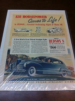 Vintage 1940 Hudson 8 De Luxe Car Of The Year Auto ad