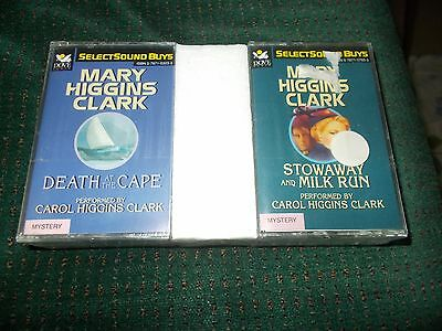 Lot Of 4 Book On Tape Mary Higgins Clark , Raymond Chander Cassettes New