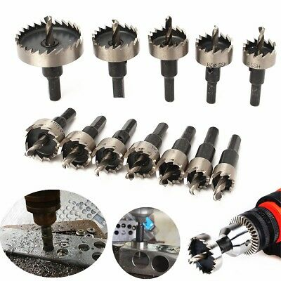 12Pcs Hole Saw Tooth HSS Steel Drill Bit Set Cutter Tool for Metal Wood Alloy