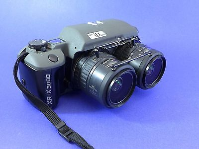 RBT X2II film stereo camera with linked Pentax 28-70mm lenses, 75mm spacing