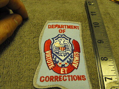 "Mississippi  Dept. Of Correction Cloth Patch ""Virtute Et Armis"" last one"