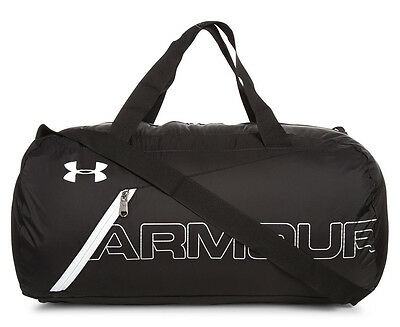 Under Armour Packable Duffel Bag - Black/Silver/White