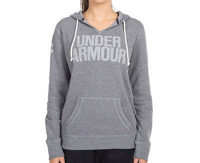 Under Armour Women's Favourite Fleece Hoodie - Carbon Heather/White