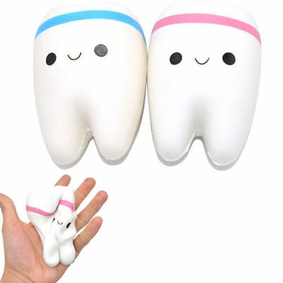 Cute Teeth Soft Squishy Phone Charms Super Slow Rising Ballchain Kid Toy U87