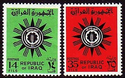 Irak Iraq 1966 ** Mi.459/60 Freimarken Definitives Wappen