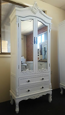 New French Provincial Mirror Wardrobe Cupboard Drawers