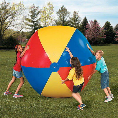 2m Large Beach Pool Ball Inflatable Six Colors Beachball Play Party Toy Ball
