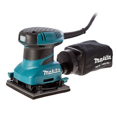 Makita BO4555 Hook and Loop Palm Sander 240V with Dustbag and Sanding Sheets