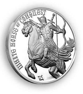 1 oz 999 Silber Four Horseman of the Apocalypse - White Horse of Conquest