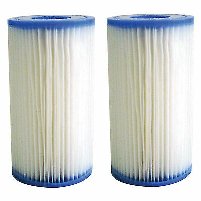 2 x Filter Cartridges for All Swimming Pools 10.6cm x 20.3cm Type A, Type 3