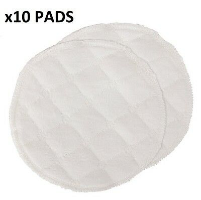 x10 Bamboo Reusable Organic Breast Pads Washable Nursing Feeding COTTON UK