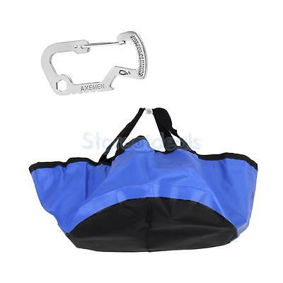 5L Folding Wash Basin Bucket Camping Water Container & Carabiner Multi-tool