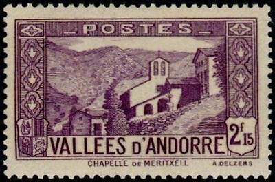 """ANDORRA FRENCH No. 83 """" CHAPELLE NOTRE-DAME OF MERITXELL 2 F. 15"""" NEW xx TTB"""
