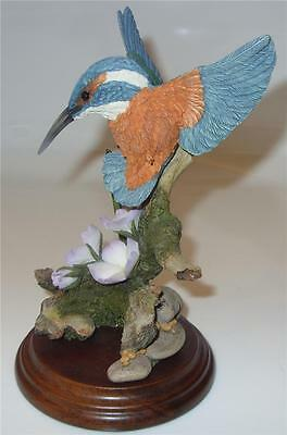 "Country Artists Figurine  01451 ""Kingfisher with Water Violet & Mayfly"" Damaged"