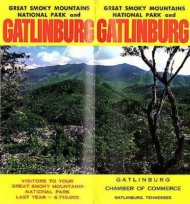 Gatlinburg Tennessee Great Smoky Mountains National Park Vintage Travel Brochure