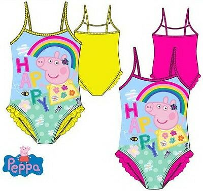 Girls Childrens Kids Peppa Pig Swimming Costume Swim Suit