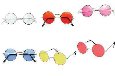 60s 70s HIPPY HIPPIE FANCY DRESS ROUND GLASSES - LENNON / BEATLES / FESTIVAL