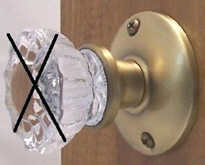 Retrofit Brass Kit-install Antique Knobs in Any Doors Antique Brass Passage