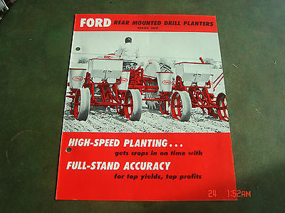 VINTAGE 1959 FORD REAR MOUNTED DRILL 309 TRACTOR BROCHURE PAMPHLET Catalog #7